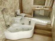 Дизайн маленькой ванной комнаты фото 8