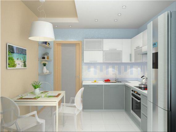 Много света в интерьера однокомнатной квартиры