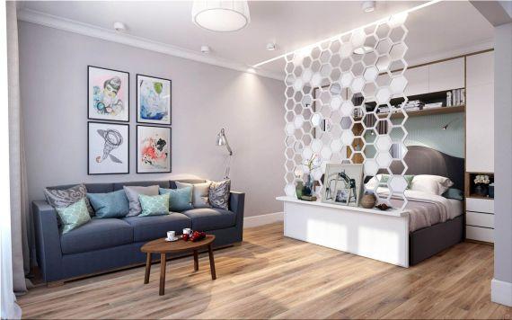 идея интерьера для 1 квартиры