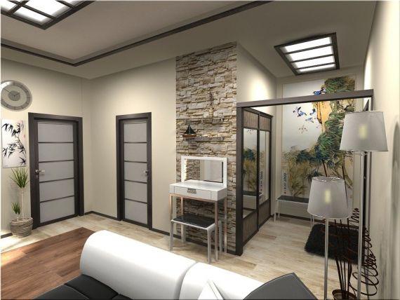 Японский стиль 1 комнатной квартиры