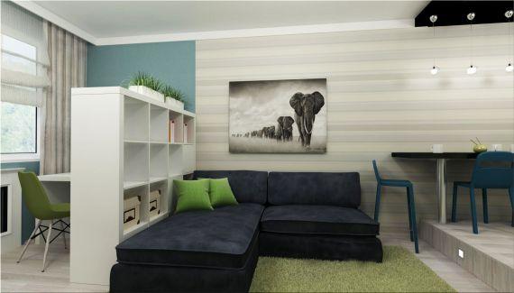 интерьер однокомнатной квартиры фотографии