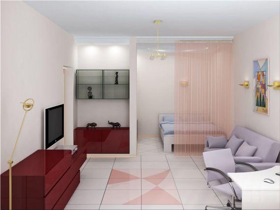 идеи интерьера для однокомнатной квартиры варианты