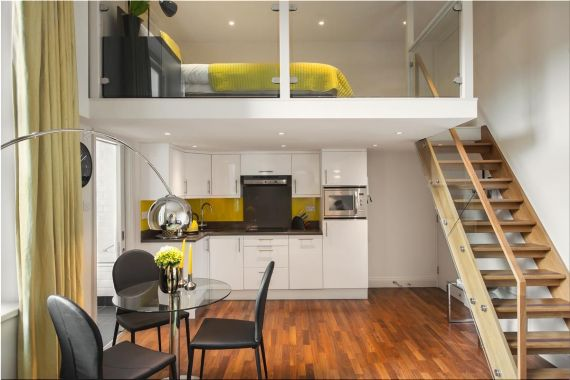интерьер для однокомнатной квартиры фотки