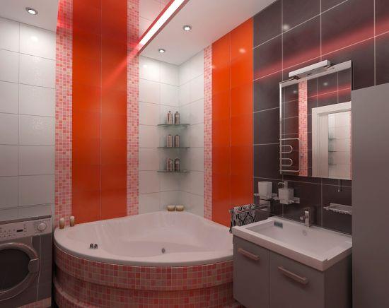 Как оформить ванную в красном