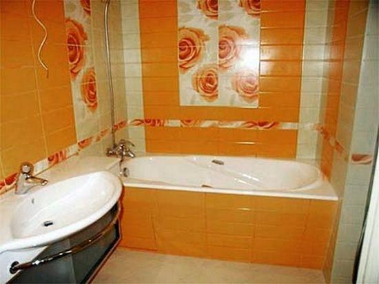 Как оформить ванную в оранжевом