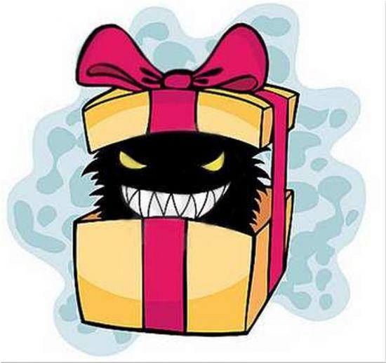 подарок с порчей