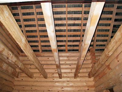потолок бруса венцовая