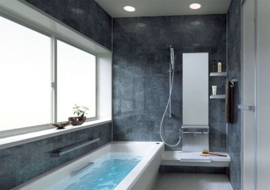 ванная в стиле хайтек