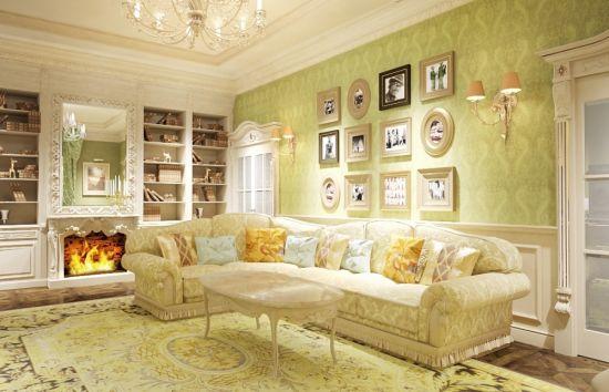 гостиная в стиле прованс стеллаж