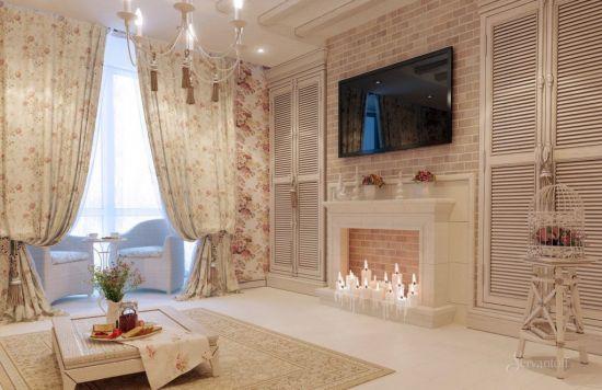 гостиная в стиле прованс натур
