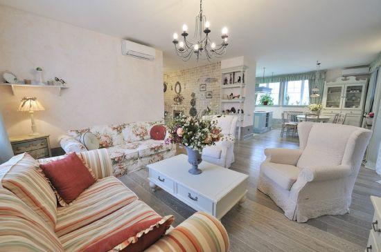 гостиная в стиле прованс расстановка мебели