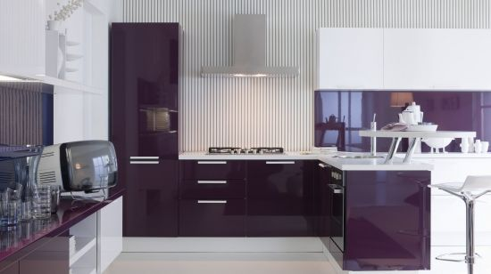 кухня в стиле модерн расстановка мебели