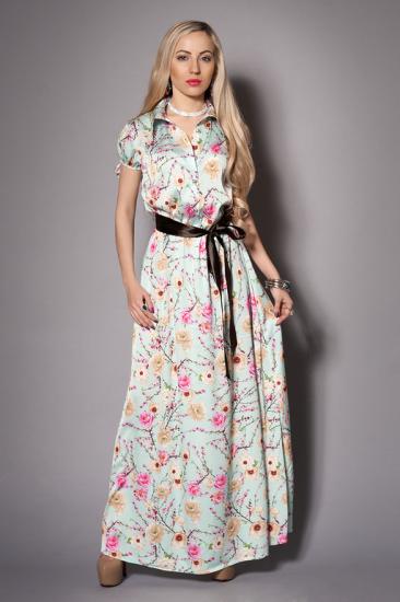 длинное шелковое платье для клуба