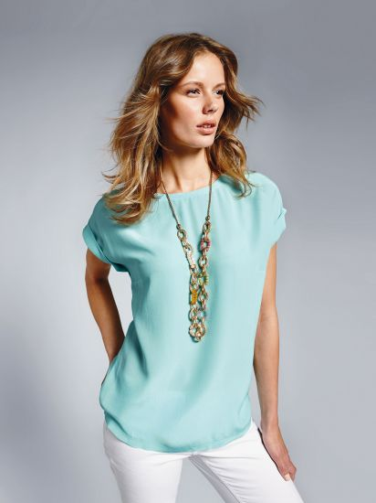 шелковая блузка для клуба