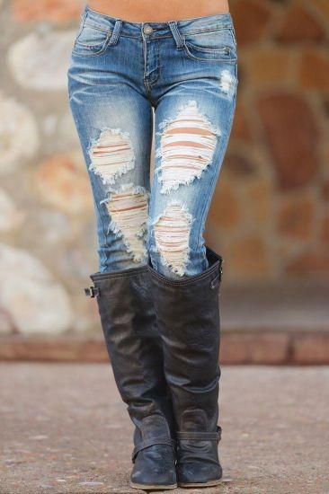рваные джинсы для клуба