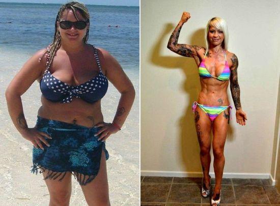красивое тело похудела