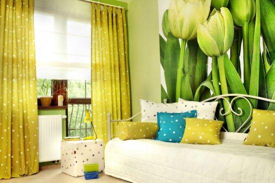 интерьер комнаты желтый