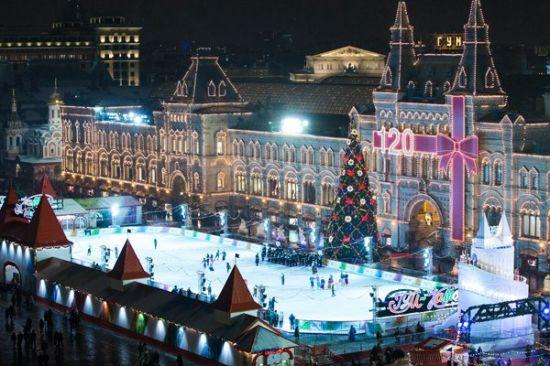 Москва центр на новый год