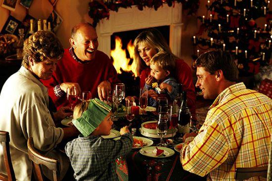 семейный праздник на новый год