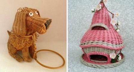 Плетение корзинок из газетных трубочек пошагово