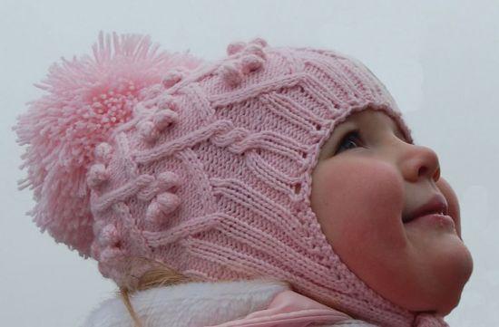 Вязание шапочки для девочки спицами с описанием