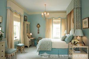 Интерьер спальни в классическом стиле фото