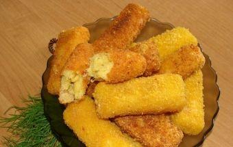 Батончики сырные закусочные и рецепт их приготовления
