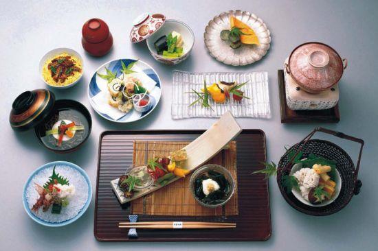Традиционное меню японской кухни