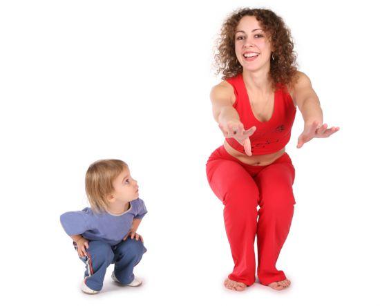Совместная зарядка для родителей и детей