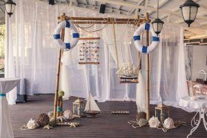 Свадебный декор в морском стиле