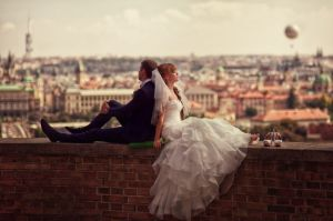 Романтичная свадьба в Праге