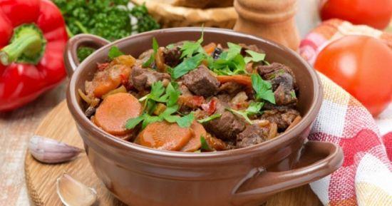 Рецепт говядины с овощами на пивном бульоне