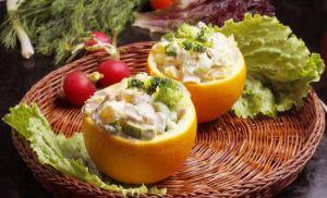 Салат сырно-апельсиновый