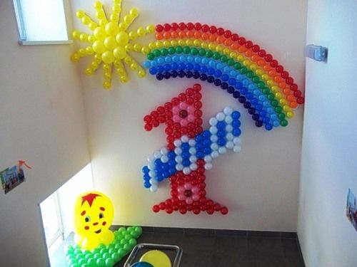 Как украсить квартиру воздушными шарами на День Рождения ребенка