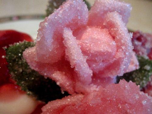 Цветы в сахаре и спирте
