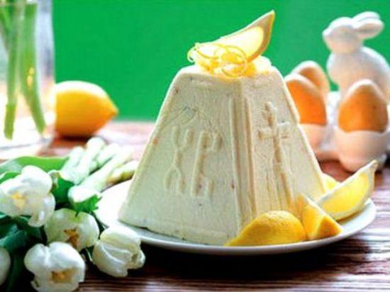 Лимонно-творожная пасха