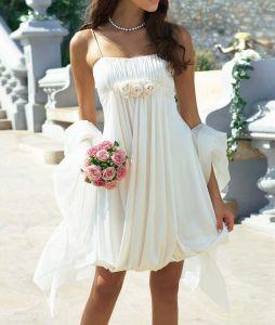Короткое свадебное платье: особенности выбора