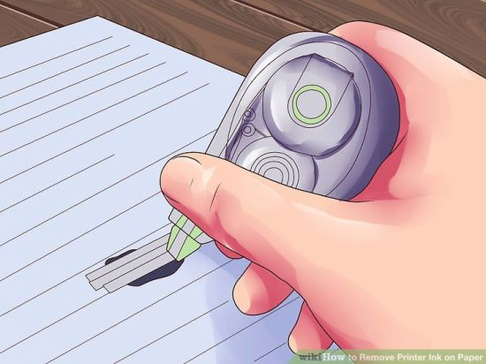 Как удалить чернила с бумаги