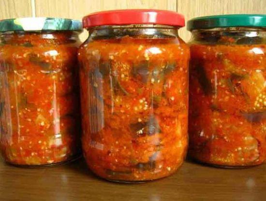 Заготовки на зиму: баклажаны в томатном соусе