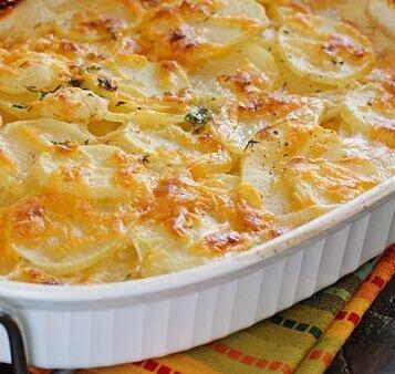 Рецепт «Картофель с тёртым сыром» в микроволновой печи