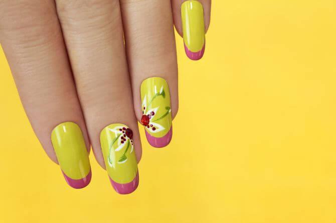 Желтый френч с цветами