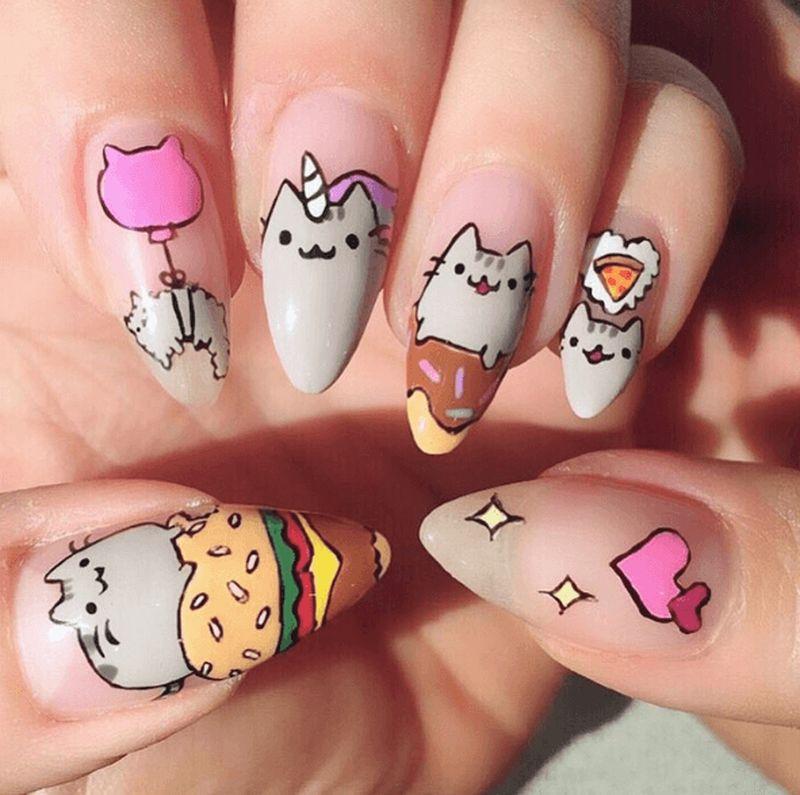 Смешные картинки на ногтях, поздравительную открытку