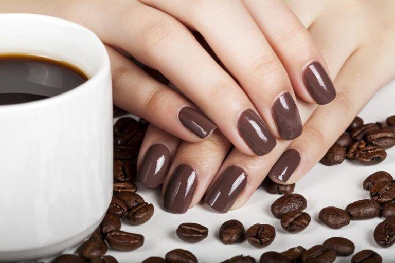 Картинки ногтей кофейных зерен